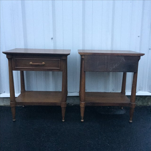Mid-Century End Tables With Single Drawer - Pair - Image 7 of 12