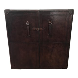 Leather Bar Cabinet