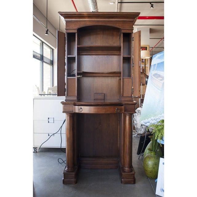 Image of Sligh Maple Two-Piece Desk