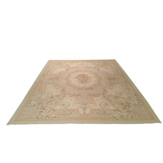 French Aubusson Weave Handmade Rug - 8′ × 10′