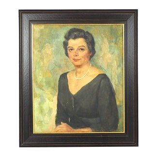 Portrait Painting of a Woman by Edmund Ward