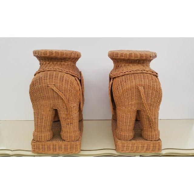 Hollywood Regency Wicker Elephant - A Pair - Image 5 of 6