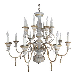 16-Light Italian Painted Chandelier