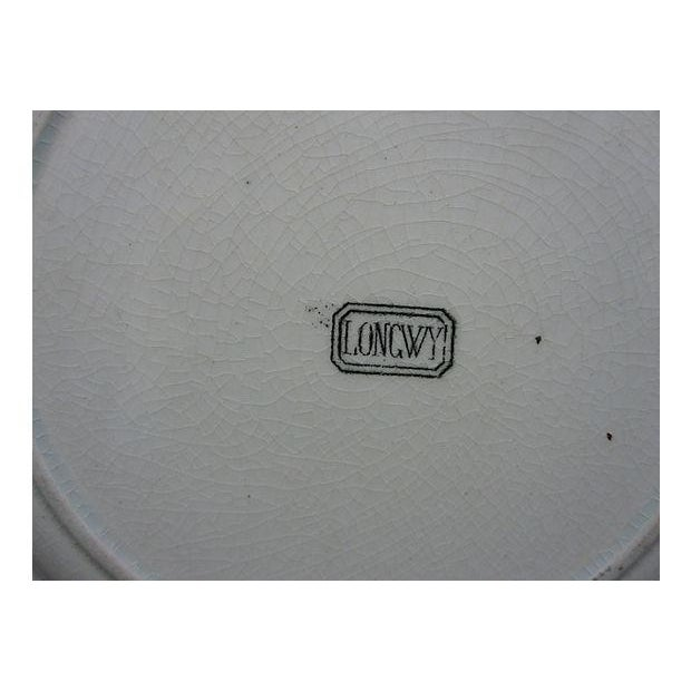 Image of 1865 French Creamware Wall Plate
