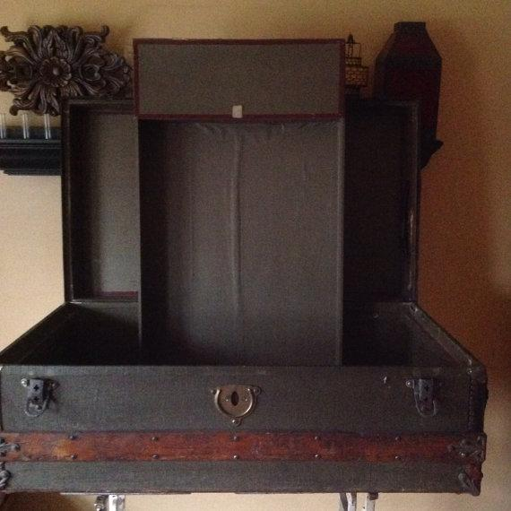 Antique Frank G. Phillips Steamer Trunk - Image 5 of 6