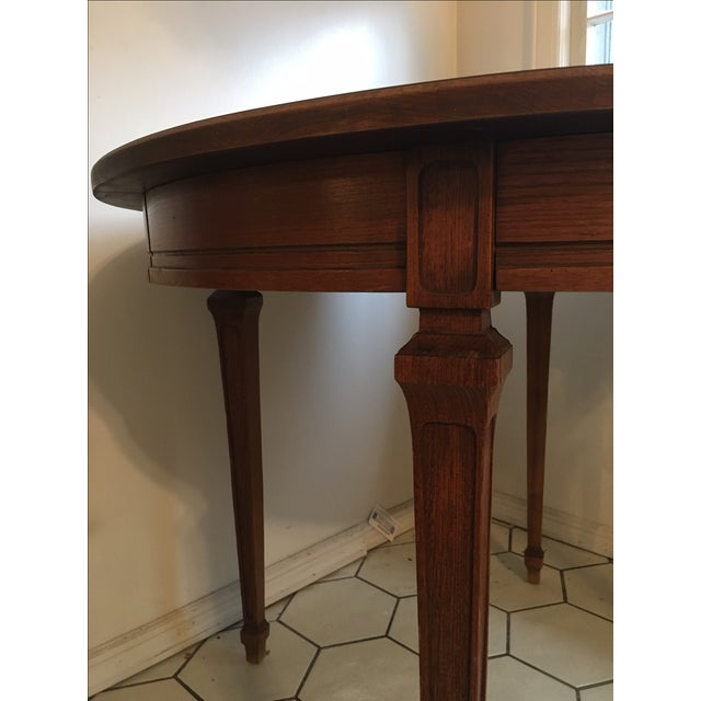 antique round expandable dining table chairish