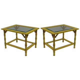 Vintage Palm Beach Style Side Tables - Pair