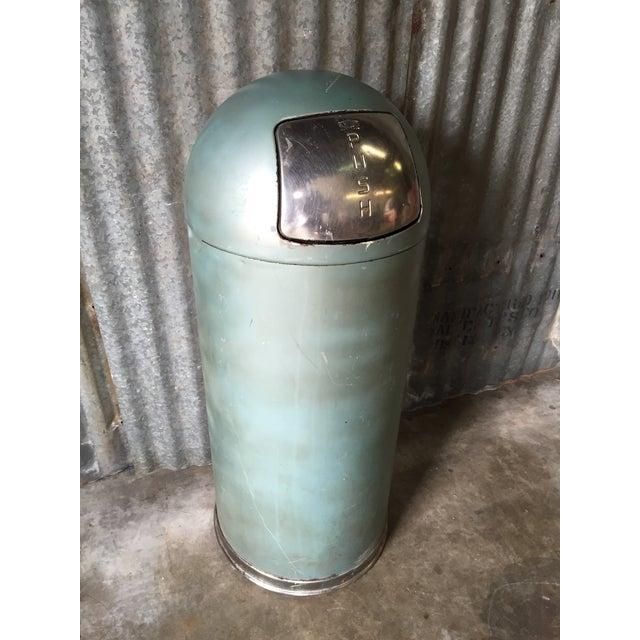 Vintage United Metal Trash Can - Image 6 of 11