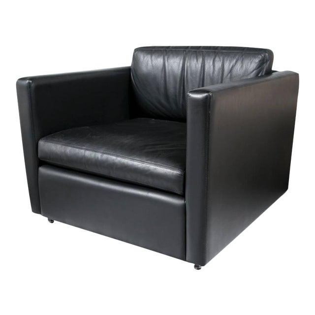 Pfister Lounge Chair in Black Leather - Image 1 of 7