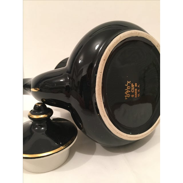 """Black and Gold Hollywood Regency """"Hall Usa"""" Teapot - Image 9 of 9"""