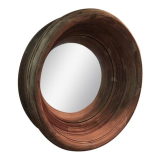 Arteriors Troy Acacia Wood Convex Mirror