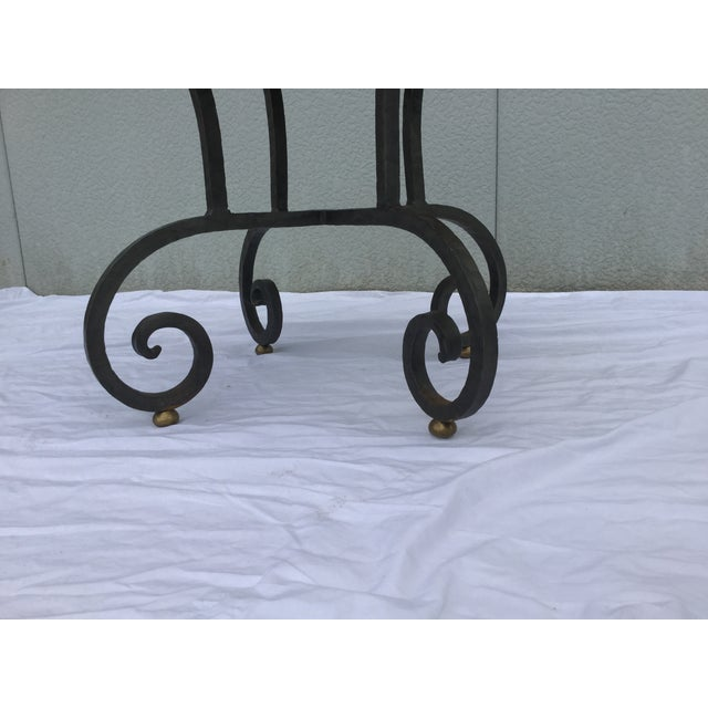 Image of 1960's Iron Base End Tables by Heritage - A Pair