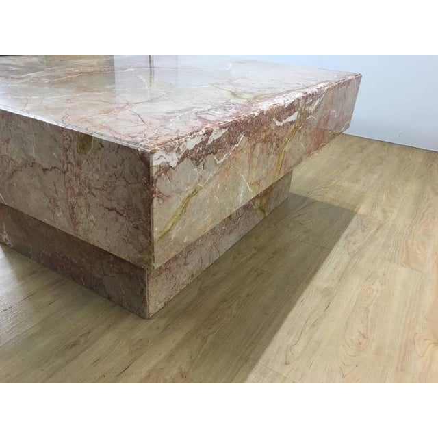 Substantial Rectangular Marble Cocktail Table - Image 5 of 7