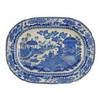 1880's Chinoiserie Transferware Platter