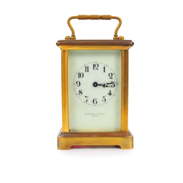 Stowell & Co. Antique Brass Carriage Clock - Image 1 of 9
