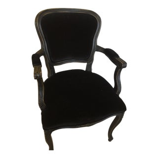 Vintage-Inspired Black Arm Chair