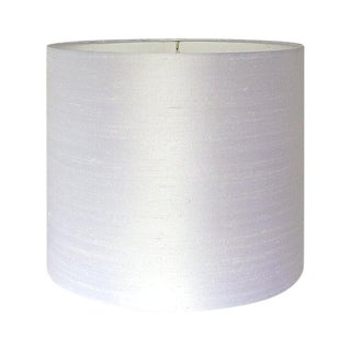 Dupioni Silk White Drum Lamp Shade