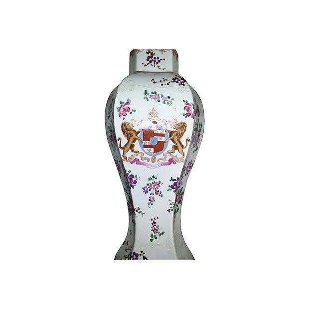 18th Century Antique Samson Armorial Vases - Set of 3 - Image 5 of 6