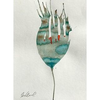 'Sunset Botanical' Watercolor Painting