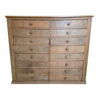 Oxford University Antique English Chest of Drawers