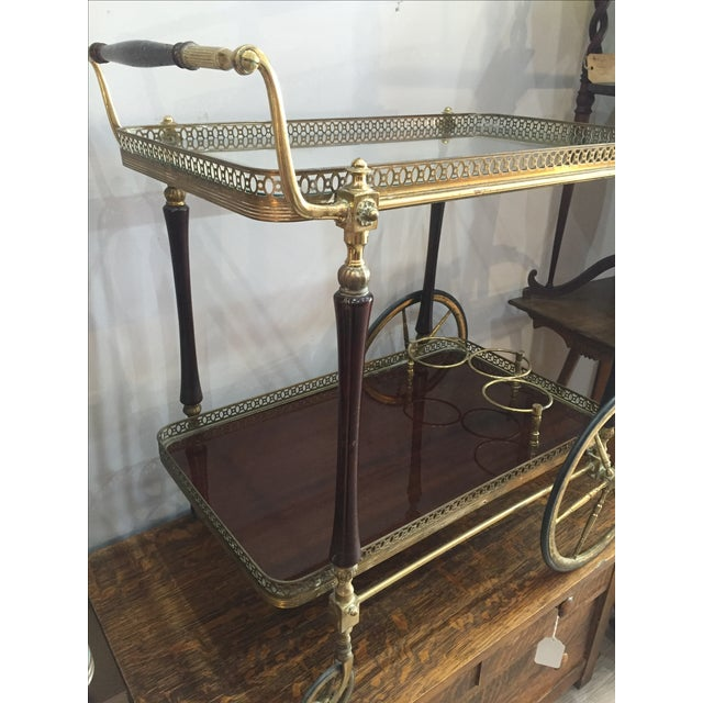 1880s French Brass Bar Cart - Image 3 of 5