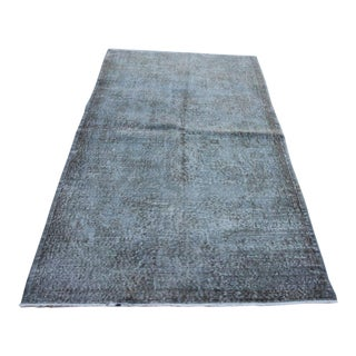 """Vintage Gray Overdyed Rug - 4'2"""" X 7'"""