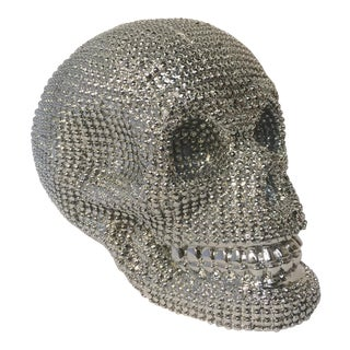 Silver Studded Skull With Lights