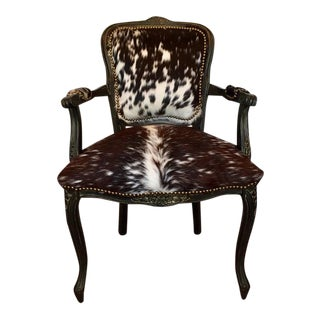 Classic Brazilain Cow Hide French Chair