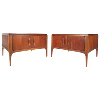 Lane Furniture Mid-Century Low End Tables - a Pair