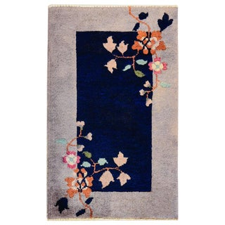 Chinese Art Deco Rug - 1′6″ × 2′9″