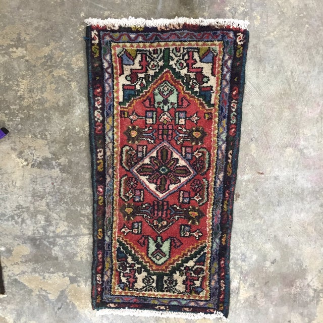 "Vintage Hamadan Persian Rug - 1'5"" x 2'11"" - Image 2 of 8"
