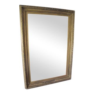 Antique Gold Trim Floor Mirror