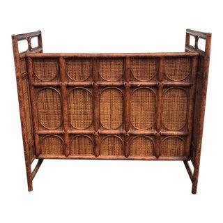 Mid-Century Rattan Wicker Bamboo Tiki Bar