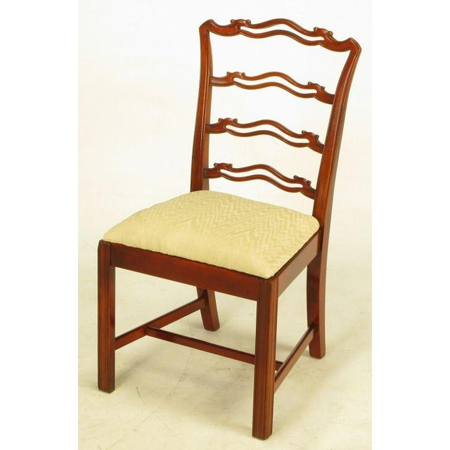 Image of Six Ribbon Back Chippendale Dining Chairs