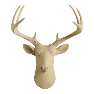 Khaki Brown Faux Mini Deer Head Bust by Wall Charmers