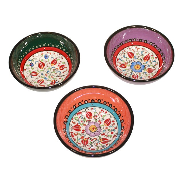 Turkish Hand Made Bowls - Set of 3 - Image 1 of 5