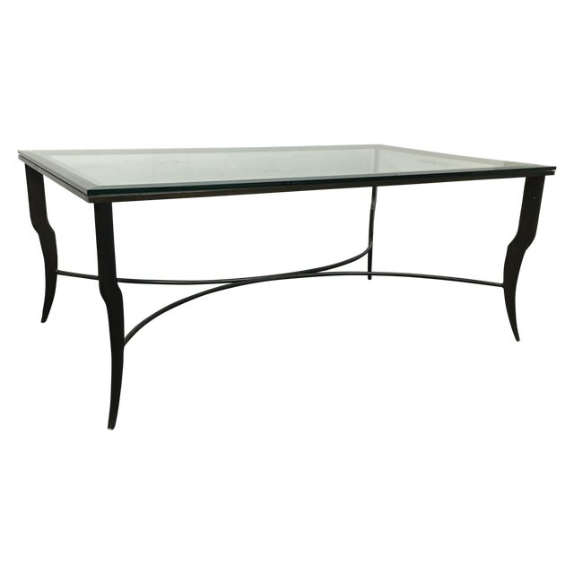 Steel & Glass Coffee Table - Image 1 of 6