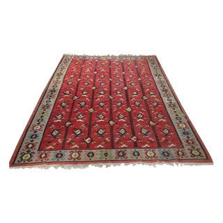 Red Bird & Fish Area Rug - 10' x 6'