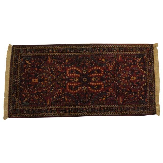 "Image of Antique Persian Sarouk Runner Rug 4' x 2'1"""