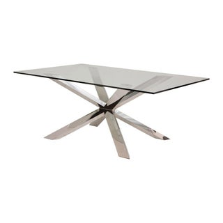 Contemporary Glass Top Dining Table