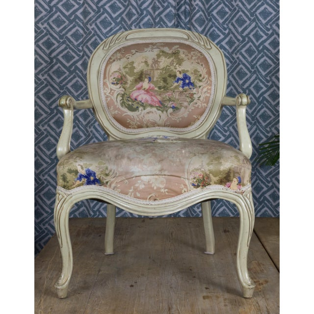 Vintage Louis XV Style Armchair - Image 3 of 7