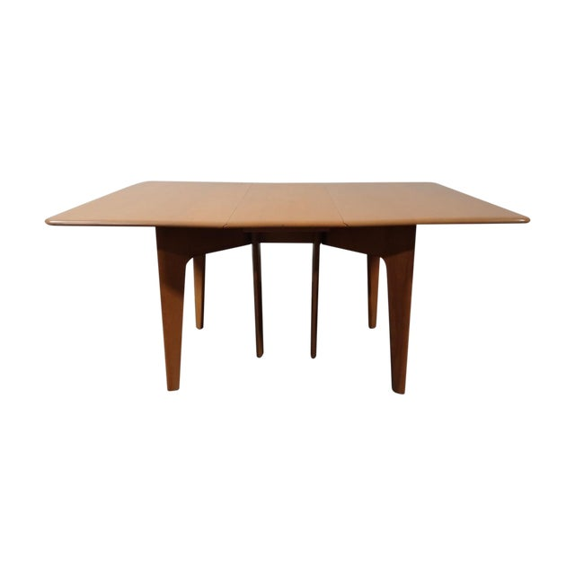 Heywood Wakefield Wheat Gate Leg Drop Leaf Table - Image 1 of 11