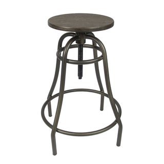 Industrial Style Counter Bamboo Top Bar Stool
