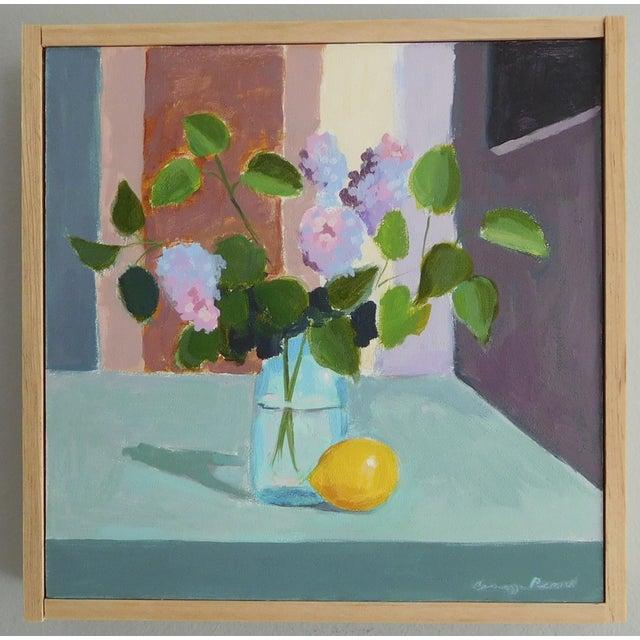 "Image of ""Lilac with Lemon"" - Original Painting"