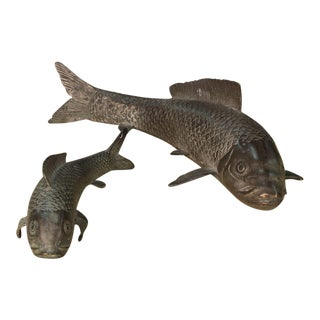 Sarreid LTD Porcelain Fish Figurines - A Pair