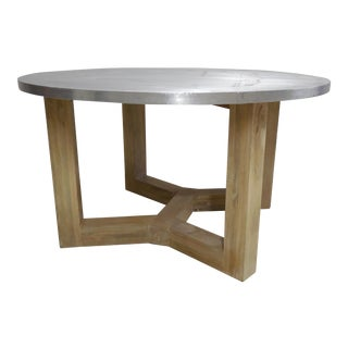 Industrial Aluminum Top Dining Table