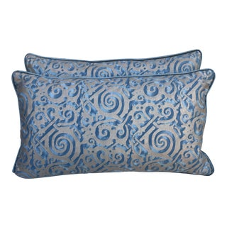 Maori Patterned Fortuny Pillows - A Pair
