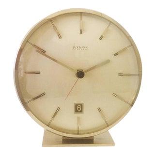 Mid-Century Chromed Table Clock by Kienzle
