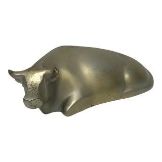 Modernist Cast Aluminum Bull