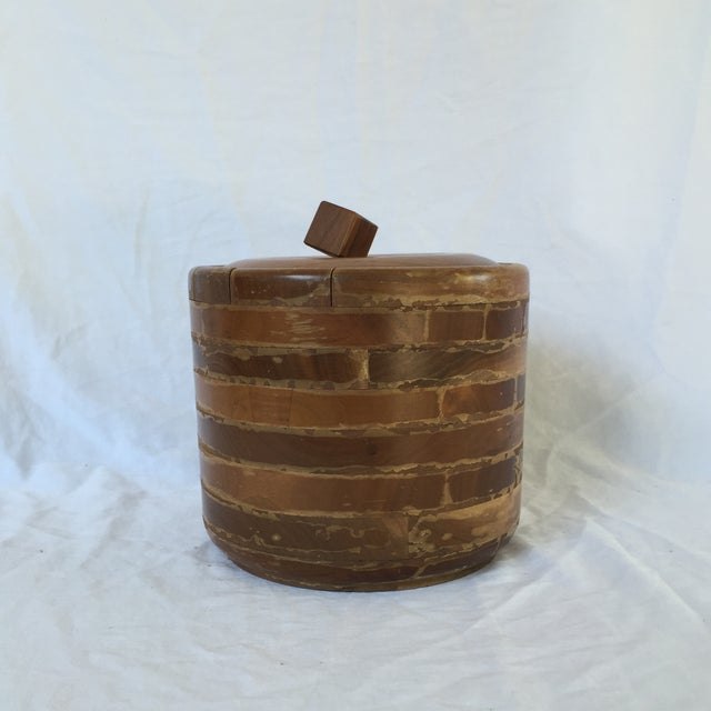 Vintage Walnut and Pyrex Ice Bucket - Image 2 of 7